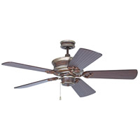Craftmade K11264 Woodward 54 inch Dark Coffee and Vintage Madera with Hand-Scraped Walnut Blades Ceiling Fan Kit in Light Kit Sold Separately, Premier Hand-Scraped Walnut