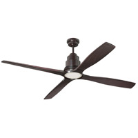 Ricasso 60 inch Oiled Bronze Indoor Ceiling Fan Kit