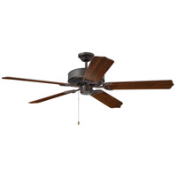Pro Energy Star 52 inch Aged Bronze Brushed with Walnut Blades Indoor Ceiling Fan Kit