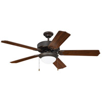Craftmade K11296 Pro Energy Star 209 52 inch Aged Bronze Brushed with Walnut Blades Ceiling Fan Kit, Blades Included