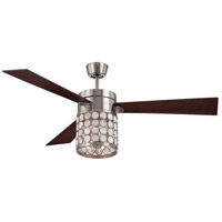 Craftmade Kapiz 3 Light 54-inch Ceiling Fan in Brushed Polished Nickel with Dark Walnut Blades KAP54BNK3