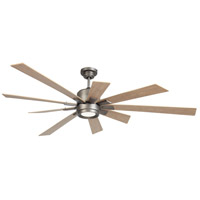 Craftmade KAT72AN9 Katana 72 inch Antique Nickel with Rustic Oak Blades Ceiling Fan