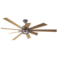 Katana 72 inch Espresso with Rustic Oak Blades Indoor Ceiling Fan Kit