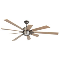 Katana 72 inch Pewter with Rustic Oak Blades Indoor Ceiling Fan Kit