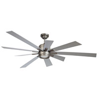 Katana 72 inch Pewter with Titanium Blades Indoor Ceiling Fan Kit