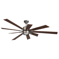 Craftmade KAT72AN-72WLN Katana 72 inch Pewter with Walnut Blades Indoor Ceiling Fan Kit in Antique Nickel