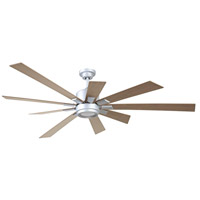 Katana 72 inch Titanium with Rustic Oak Blades Indoor Ceiling Fan Kit