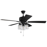Craftmade KTE52FB5 Neighborhood Kate 52 inch Flat Black with Black Walnut/Grey Walnut Blades Ceiling Fan