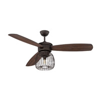 Ellington by Craftmade Lark 1 Light 54-inch Ceiling Fan in Espresso with Classic Walnut and Espresso Blades LAR54ESP3