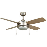 Craftmade LAV44BN4LK-LED Laval 44 inch Brushed Satin Nickel with Reversible Matte Silver and Maple Blades Ceiling Fan