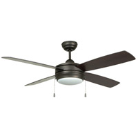 Craftmade LAV52ESP4LK-LED Laval 52 inch Espresso with Reversible Espresso and Dark Walnut Blades Ceiling Fan in Frost White Blades Included