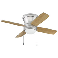 Laval Hugger 44 inch Brushed Pewter with Silver/Maple Blades Hugger Ceiling Fan