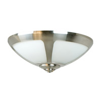 Craftmade LK204CFL-BN Universal 2 Light Fluorescent Brushed Satin Nickel Fan Light Kit