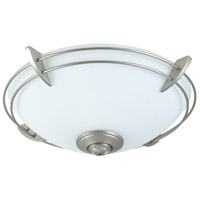 Modern Metal Rim 2 Light Brushed Nickel Light Kit in Opal Frost Glass