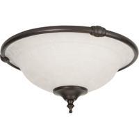 Craftmade LK24-OB-WG-LED Elegance LED Oiled Bronze Fan Bowl Light Kit in White Frosted Glass Universal Mount