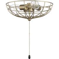 Craftmade Universal LK2801-SB-LED Bowl Light Kit LED Satin Brass Fan Light Kit Caged Bowl