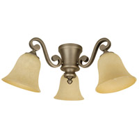 Craftmade LK35-AN-LED Universal LED Antique Nickel Fan Light Kit in Antique Scavo Glass, Bell