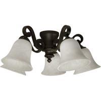 Craftmade LK37-OB-WG-LED Universal LED Antique Scavo Fan Light Kit in Oiled Bronze White Frosted Glass Bowl