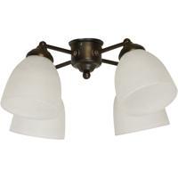 Craftmade LK400-OB-WG-LED Universal LED Oiled Bronze Fan Light Kit in White Frosted Glass Bell