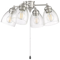 Craftmade LK401105-BNK-LED 4 Light Fitter and Glass LED LED Filament Brushed Polished Nickel Fan Light Kit