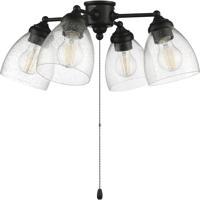 Craftmade LK401105-FB-LED 4 Light Fitter and Glass LED LED Filament Flat Black Fan Light Kit