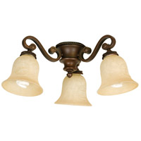 Universal LED Aged Bronze Textured Fan Light Kit, Bell