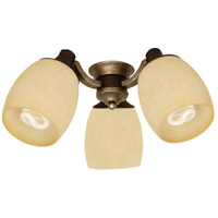 Craftmade Woodward  3 Light Light Kit in Dark Coffee and Vintage Madera LK47CFL-DCVM