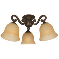 Craftmade LK49-AG-LED Universal LED Aged Bronze Textured Fan Light Kit Bell