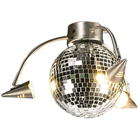 Spotlight Disco Ball 3 Light Brushed Nickel Light Kit in Mirrored Disco Ball