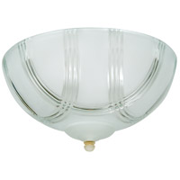 Craftmade LKE51CFL Elegance 2 Light CFL Clear Arch Frost Fan Light Kit, Universal Mount