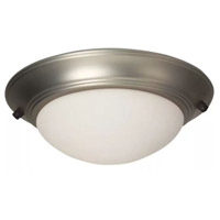 Elegance LED Brushed Satin Nickel Fan Bowl Light Kit in Brushed Nickel, Universal Mount