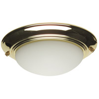 Elegance LED Polished Brass Fan Bowl Light Kit, Universal Mount