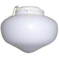 Ellington by Craftmade Schoolhouse Bowl 1 Light Light Kit in White LKG1WW