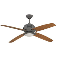 Craftmade Louver 1 Light 52-inch Ceiling Fan in Aged Galvanized with Light Oak Blades LOU52AGV4