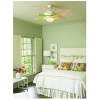 Craftmade K10612 Bloom 52 Inch White With Black And Silver And Translucent  Blades Ceiling Fan Kit