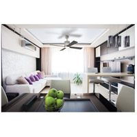 Craftmade MAR52BNK4 Marissa 52 inch Brushed Polished Nickel with Reversible Walnut and Flat Black Blades Ceiling Fan in Brushed Nickel, Blades Included alternative photo thumbnail