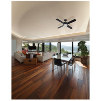 Craftmade MN44BNK4 Montreal 44 inch Brushed Polished Nickel with Flat Black Blades Ceiling Fan in Incandescent