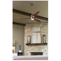 Craftmade SON52CH-52GW Sonnet 52 inch Chrome with Grey Wood Blades Indoor Ceiling Fan Kit in 52