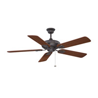 Majestic 52 inch Aged Bronze with Dark Oak and Mahogany Blades Indoor Ceiling Fan in 0, Light Kit Sold Separately