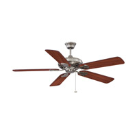 Craftmade MAJ52BNK5 Majestic 52 inch Brushed Polished Nickel with Reversible Teak and Dark Cherry Blades Ceiling Fan in 0, Brushed Nickel, Light Kit Sold Separately, Blades Included
