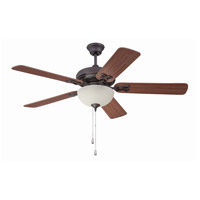 Majestic 54 inch Oiled Bronze Gilded with Mahogany Blades Ceiling Fan with Blades Included in 2, Amber Frost Glass
