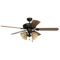 Craftmade MAN52ABZ5C4 Manor 52 inch Aged Bronze Brushed with Reversible Mahogany and Dark Oak Blades Ceiling Fan, Blades Included