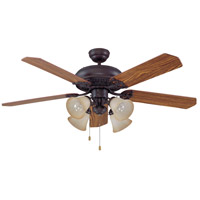 Craftmade MAN52ABZ5C4 Manor 52 inch Aged Bronze Brushed with Reversible Mahogany and Dark Oak Blades Ceiling Fan, Blades Included alternative photo thumbnail