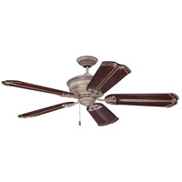 Craftmade K11229 Monaghan 52 inch Athenian Obol with Ebony and Vintage Madera Blades Ceiling Fan in Ebony/Vintage Madera, Solid Wood Blades, 52