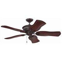 Craftmade K11231 Monaghan 52 inch Oiled Bronze Gilded with Mahogany Blades Ceiling Fan in Solid Wood Blades, 52