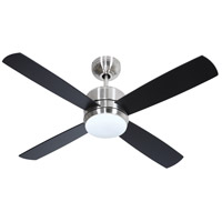 Craftmade MN44BNK4-LED-UCI Montreal 44 inch Brushed Polished Nickel with Flat Black Blades Ceiling Fan, Blades Included