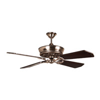 Monroe 52 inch Tarnished Silver Walnut and Vintage Madera Ceiling Fan in Classic Walnut/Vintage Madera, Solid Wood Blades, Custom Carved