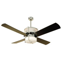 Craftmade MO56CH4 Midoro 56 inch Chrome Indoor Ceiling Fan in Matte Opal Glass