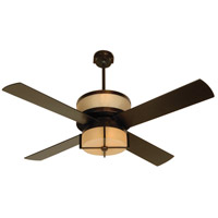 Craftmade MO56OB4 Midoro 56 inch Oiled Bronze Ceiling Fan in Tea-Stained Glass alternative photo thumbnail