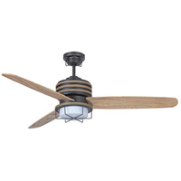 Craftmade Moorestad 2 Light 54-inch Outdoor Ceiling Fan in Espresso with Distressed Oak Blades MOR54ESP3